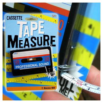 CASSETTE TAPE MEASURE label