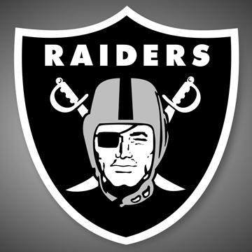 Oakland Raiders NFL フリースブランケット label