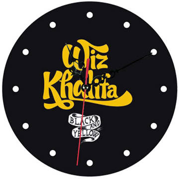 Wiz Khalifa BLACK and YELLOW WALL CLOCK