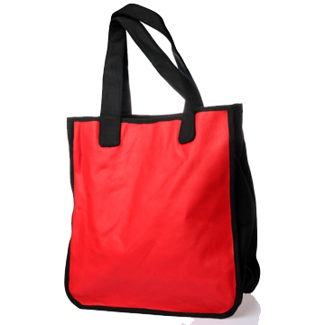 Hello My Name Is… Tote Bag – Red / White back