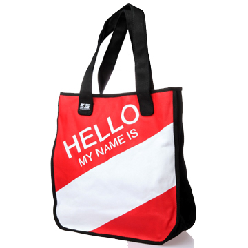 Hello My Name Is… Tote Bag – Red / White