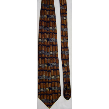 CUBAN FINEST CIGARS  SILK NECKTIE front