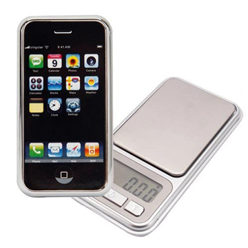 iphone型 Digital Scale  0.1g – 500g front