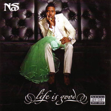 Nas Life is Good T shirt [Size L] label