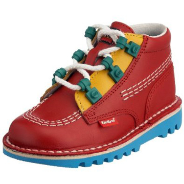 LEGOxKickers   Junior Leather Boot 16cm front
