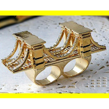 Brooklyn Bridge Double fingers gold ring