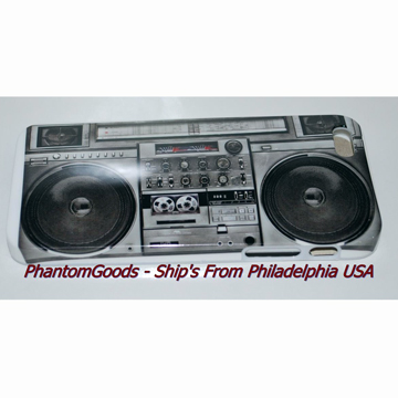 OLD SCHOOL BOOMBOX  IPHONE 5 HARD COVER