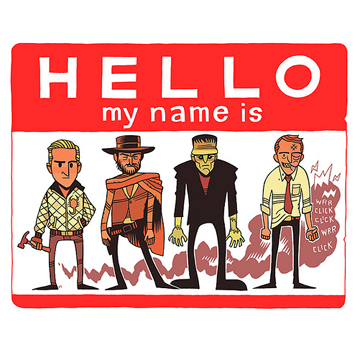 HELLO MY NAME IS STICKERS – RED/WHITE label