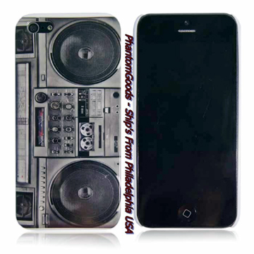 OLD SCHOOL BOOMBOX  IPHONE 5 HARD COVER back