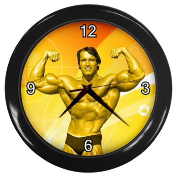 シュワちゃんの掛け時計<br />Arnold Schwarzenegger Body Builder Wall Clock front