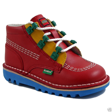 LEGOxKickers   Junior Leather Boot 16cm back