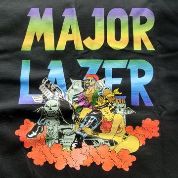 [Size L] MAJOR LAZER T Shirts back