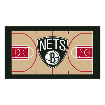 NBA BROOKLYN NETS – BASKETBALL MAT COURT back