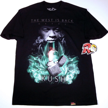 Dr.DRE The West Is Back KUSH  T-shirt XL