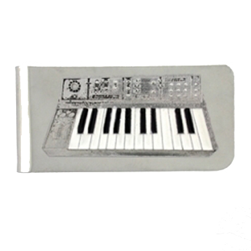 Keyboard Money Clip front