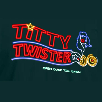 "TITTY TWISTER ""From Dusk Till Dawn"" Black T-Shirt [SIZE M] back"