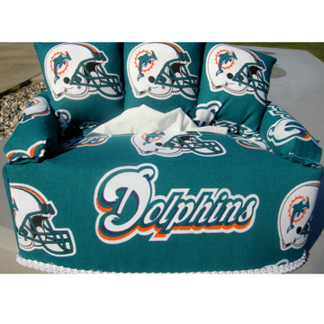 MIAMI DOLPHINS TISSUE BOX COVER
