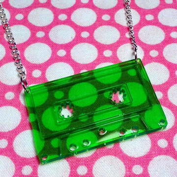 Cassette Tape Necklace back
