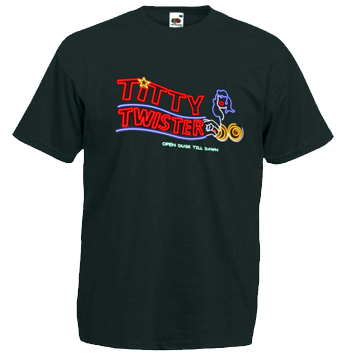"TITTY TWISTER ""From Dusk Till Dawn"" Black T-Shirt [SIZE XL]"