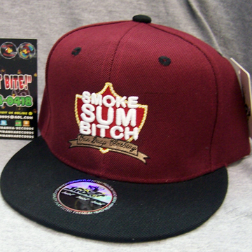 Smoke Sum Bitch Snapback Cap