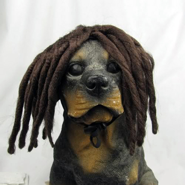 dread wig DOG Costume 犬用ドレッドカツラ front