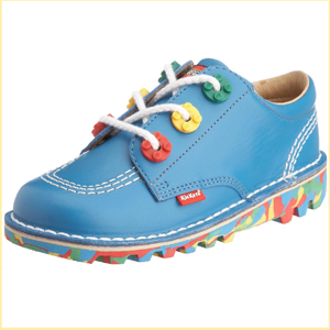 LEGOxKickers   Junior Leather Boot BLUE 13.5cm