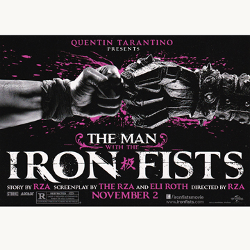 THE MAN WITH THE IRON FISTS STICKER front