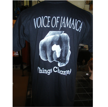 Buju Banton Voice of Jamaica T-shirt back