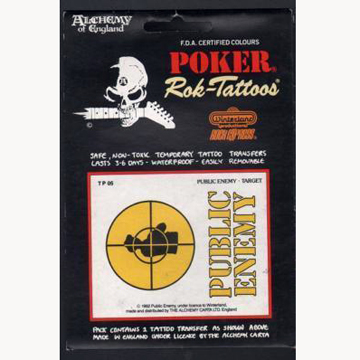 PUBLIC ENEMY TATTOO STICKER