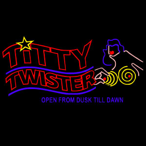 "TITTY TWISTER ""From Dusk Till Dawn"" Black T-Shirt [SIZE L] back"