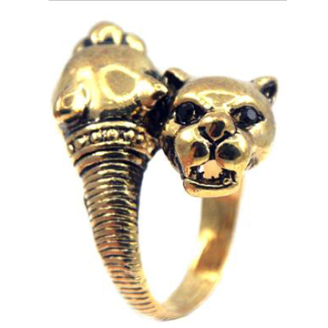 Panther Ring Gold back