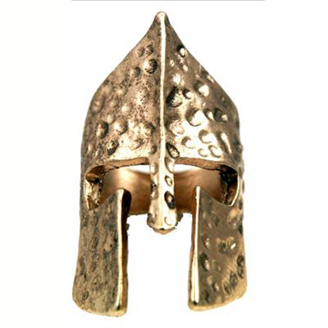 Knight Helmet Gold Ring