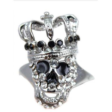 Skull Crown Silver Ring