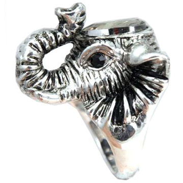 Elephant Silver Ring back