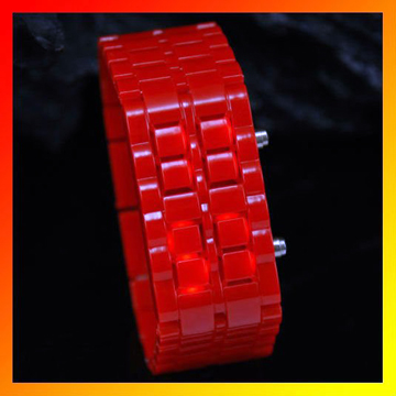 Wrist Watch Red LED Bracelet