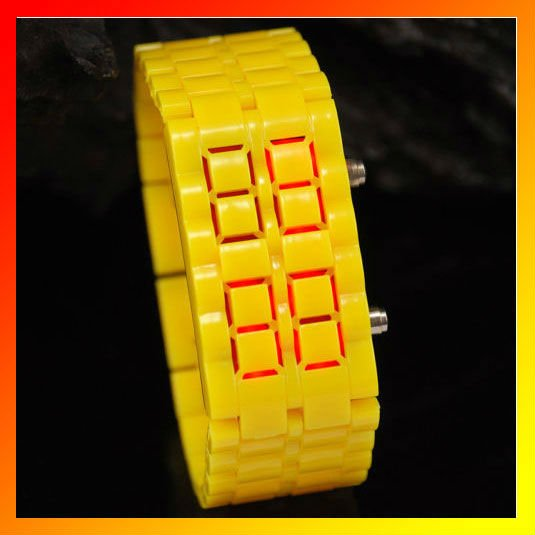 Wrist Watch Yellow LED Bracelet