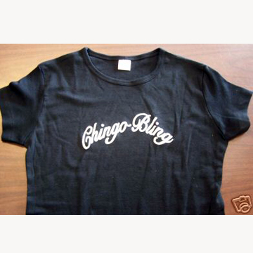 Chingo Bling Black Ladies Shirt S back