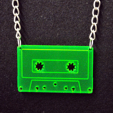 Cassette Tape Necklace front