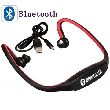 Red Sports Wireless Bluetooth Headset Earphone back