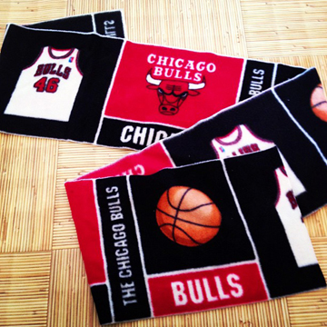 Chicago Bulls Basketball Fleece Scarf back