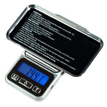 iphone型 Digital Scale  0.1g – 500g back