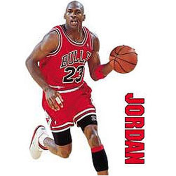 MICHAEL JORDAN Wall DECALS label