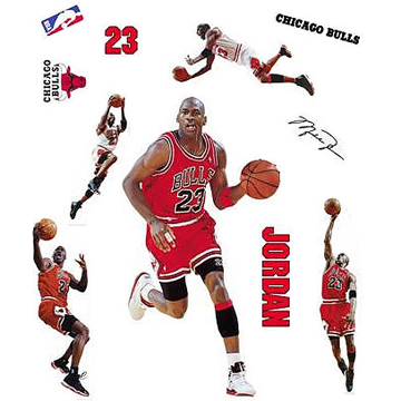 MICHAEL JORDAN Wall DECALS back