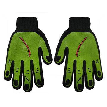 Frankenstein Monster Black Green Mens Work Gloves