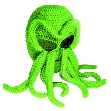 Cthulhu Knit Ski Mask back