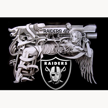 Oakland Raiders fleece scarf back