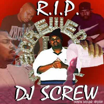 RIP DJ Screw Luv White Ladies Tank Top S label