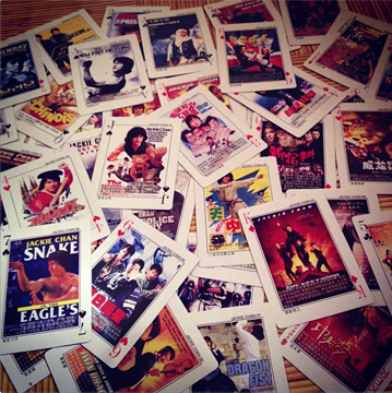 Jackie Chan playing cards