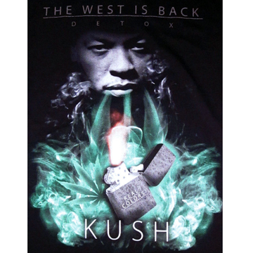Dr.DRE The West Is Back KUSH  T-shirt XL back
