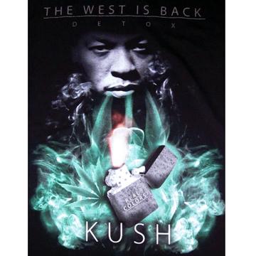 Dr.DRE The West Is Back KUSH  T-shirt XL back